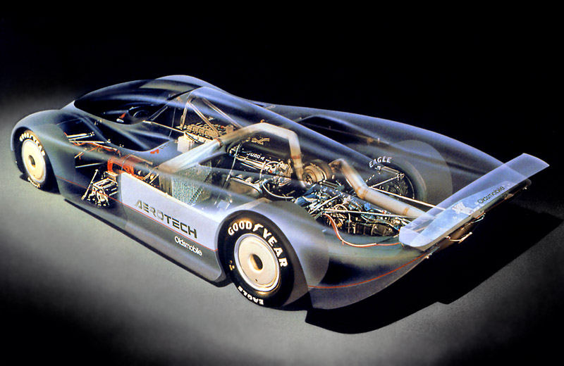 Oldsmobile Aerotech Long Tail - все началось с двигателя