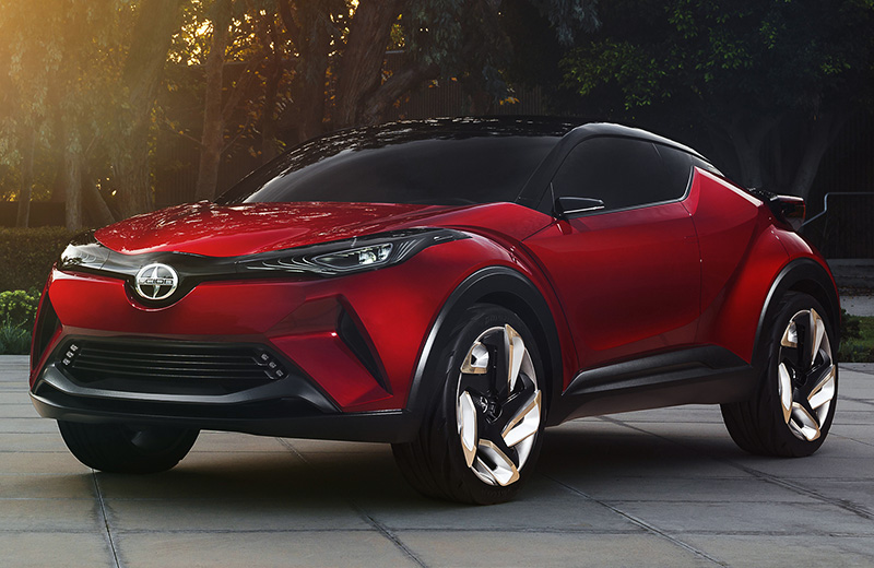 Scion C-HR Concept - атака клонов