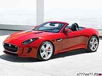 2013 Jaguar F-Type V8 S = 300 км/ч. 495 л.с. 4.3 сек.