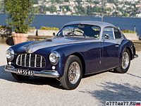 1948 Ferrari 166 Inter Stabilimenti Farina Berlinetta = 170 км/ч. 140 л.с. 10 сек.