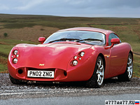 2003 TVR Tuscan T440R = 322 км/ч. 440 л.с. 3.7 сек.