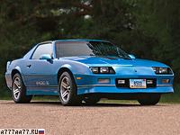 1986 Chevrolet Camaro Z28 IROC-Z = 234 км/ч. 223 л.с. 6.9 сек.
