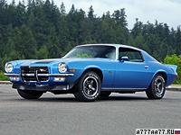 1972 Chevrolet Camaro Z28 = 204 км/ч. 255 л.с. 6.8 сек.