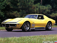 1969 Chevrolet Corvette Stingray ZL-1 (C3) = 285 км/ч. 580 л.с. 4.5 сек.