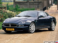 1998 Maserati 3200 GT = 280 км/ч. 370 л.с. 5.1 сек.