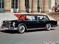 1964 Mercedes-Benz 600 (W100) = 203 км/ч. 250 л.с. 9.9 сек.