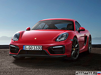 2014 Porsche Cayman GTS (981C) = 281 км/ч. 340 л.с. 4.7 сек.