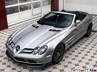 2009 Mercedes-Benz SLR McLaren Roadster 722S = 332 км/ч. 650 л.с. 3.8 сек.
