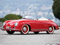 1955 Porsche 356 Speedster 1600S = 169 км/ч. 75 л.с. 11.3 сек.