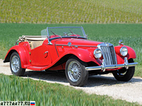 1954 MG TF 1500 = 137 км/ч. 63 л.с. 17.5 сек.