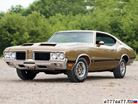 1970 Oldsmobile 442 W-30 Holiday Coupe = 200 км/ч. 370 л.с. 6 сек.