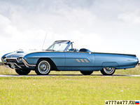 1963 Ford Thunderbird Sport Roadster = 213 км/ч. 340 л.с. 8.4 сек.