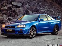 1999 Nissan Skyline GT-R V-spec (BNR34) = 250 км/ч. 280 л.с. 5 сек.