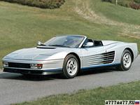 1986 Ferrari Testarossa Spider Pininfarina = 290 км/ч. 396 л.с. 5.3 сек.
