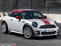 2011 Mini Cooper Coupe John Cooper Works = 229 км/ч. 211 л.с. 6.2 сек.