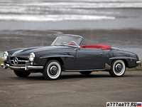 1955 Mercedes-Benz 190 SL (W121 B2) = 174 км/ч. 105 л.с. 12.2 сек.
