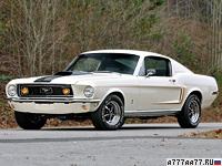 1968 Ford Mustang GT Fastback 428 Cobra Jet = 210 км/ч. 340 л.с. 7.4 сек.