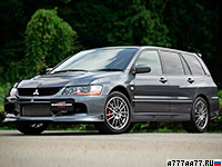 2006 Mitsubishi Lancer Evolution IX Wagon MR = 250 км/ч. 286 л.с. 4.8 сек.
