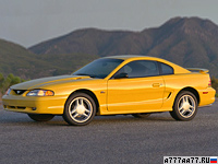 1994 Ford Mustang GT Coupe = 221 км/ч. 218 л.с. 7.1 сек.