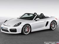 2015 Porsche Boxster Spyder = 290 км/ч. 375 л.с. 4.5 сек.