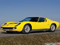 1967 Lamborghini Miura P400 = 277 км/ч. 350 л.с. 6.7 сек.