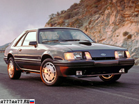 1986 Ford Mustang SVO = 216 км/ч. 205 л.с. 7.7 сек.