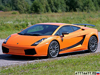 2007 Lamborghini Gallardo Superleggera = 317 км/ч. 530 л.с. 3.6 сек.
