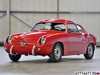 1957 Fiat Abarth 750 GT Zagato = 144 км/ч. 43 л.с. 19 сек.
