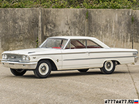 1963 Ford Galaxie 500 Lightweight 427 R-code = 218 км/ч. 416 л.с. 6.2 сек.