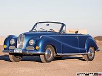 1957 BMW 502 Baur Cabriolet = 170 км/ч. 140 л.с. 11.3 сек.