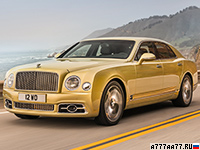 2016 Bentley Mulsanne Speed = 305 км/ч. 537 л.с. 4.9 сек.