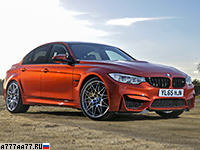 2016 BMW M3 Competition Package = 250 км/ч. 450 л.с. 4 сек.