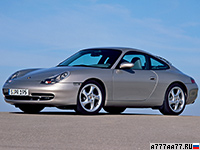 1997 Porsche 911 Carrera (996) = 280 км/ч. 300 л.с. 4.9 сек.