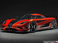 2016 Koenigsegg Agera One of 1 = 447 км/ч. 1360 л.с. 2.6 сек.
