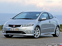 2007 Honda Civic Type-R (FN2) = 230 км/ч. 201 л.с. 7 сек.
