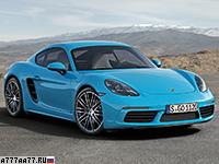 2017 Porsche 718 Cayman S = 285 км/ч. 350 л.с. 4.2 сек.