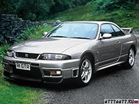 1995 Nissan Skyline GT-R V-spec (BNR33) = 252 км/ч. 280 л.с. 5.1 сек.