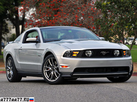 2010 Ford Mustang 5.0 GT = 250 км/ч. 418 л.с. 4.45 сек.