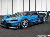 2016 Bugatti Vision Gran Turismo Concept = 400 км/ч. 1672 л.с. 2.1 сек.