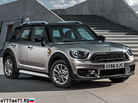 2017 Mini Cooper S E Countryman ALL4 = 198 км/ч. 224 л.с. 6.8 сек.