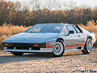 1981 Lotus Esprit Turbo = 246 км/ч. 213 л.с. 6.2 сек.