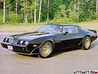 1980 Pontiac Firebird Trans Am Turbo = 224 км/ч. 213 л.с. 8.2 сек.