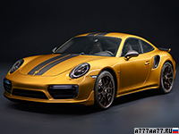 2017 Porsche 911 Turbo S Exclusive Series = 330 км/ч. 607 л.с. 2.9 сек.