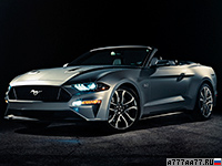 2018 Ford Mustang GT Convertible = 287 км/ч. 455 л.с. 4.6 сек.