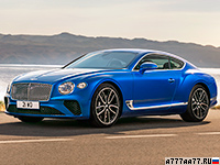2018 Bentley Continental GT = 333 км/ч. 635 л.с. 3.7 сек.