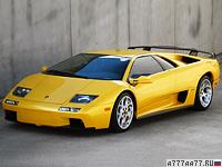2000 Lamborghini Diablo VT 6.0 = 335 км/ч. 550 л.с. 3.95 сек.