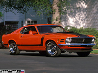 1970 Ford Mustang Boss 302 = 195 км/ч. 294 л.с. 6.7 сек.