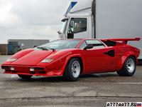 1985 Lamborghini Countach 5000QV = 298 км/ч. 455 л.с. 4.8 сек.