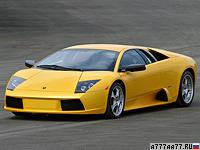 2001 Lamborghini Murcielago = 332 км/ч. 572 л.с. 4.15 сек.