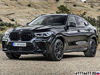 2020 BMW X6 M Competition (F86) = 290 км/ч. 625 л.с. 3.8 сек.